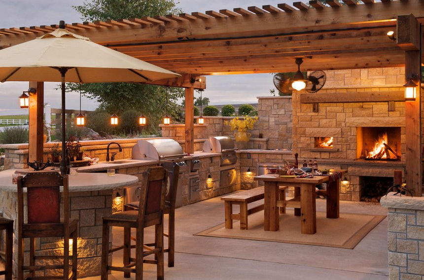 outdoor kitchen ideas 24