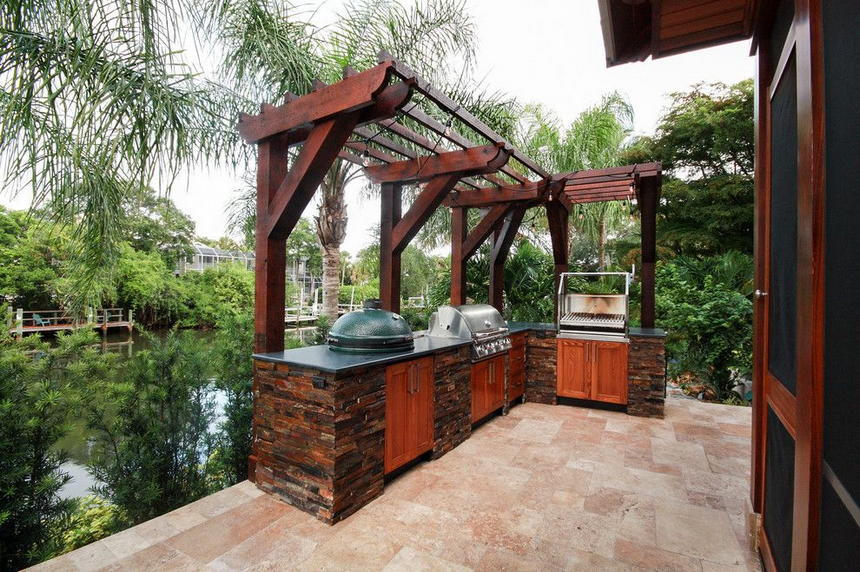 outdoor kitchen ideas 38