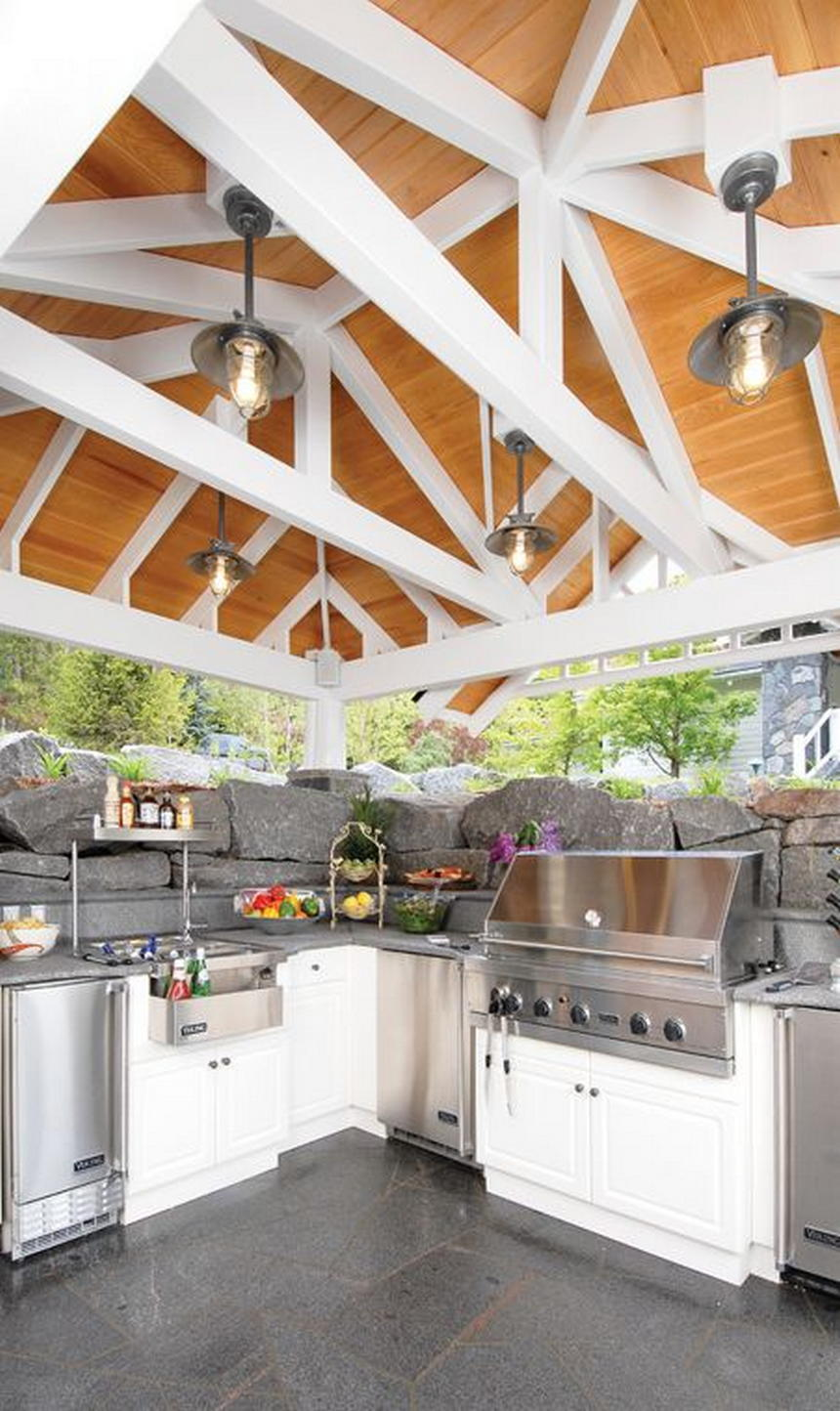 outdoor kitchen ideas 45