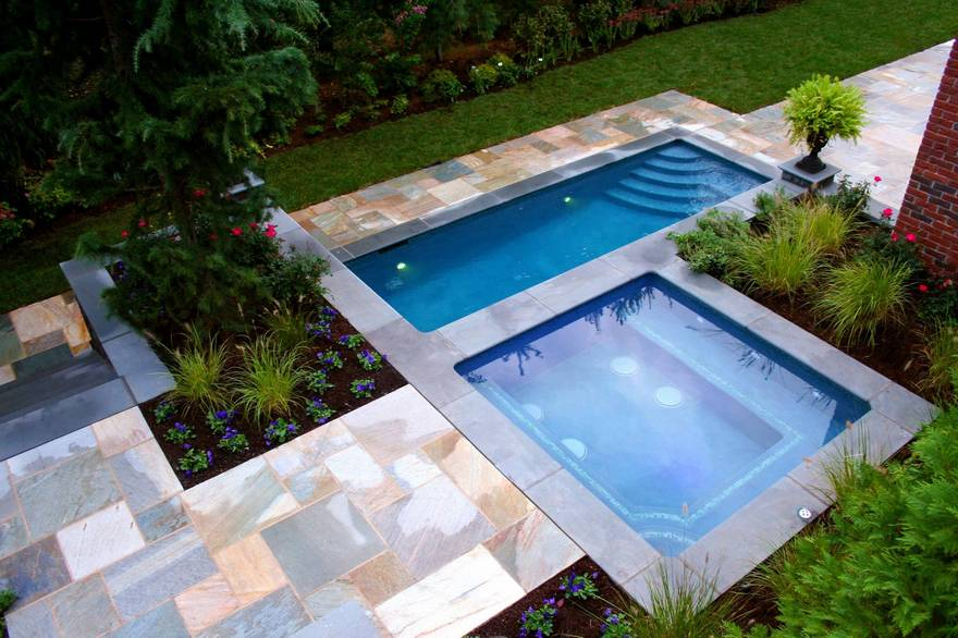 outdoor pool and hot tub spa 10