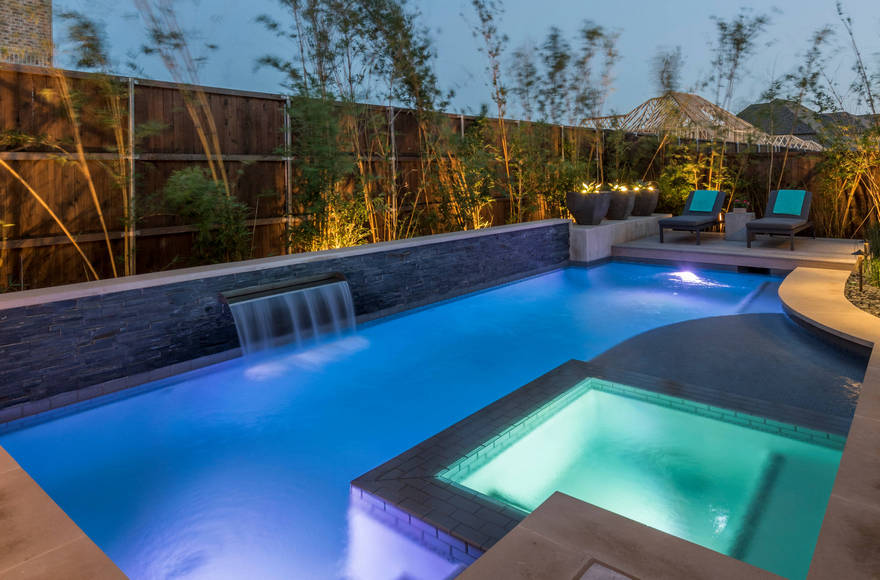 outdoor pool and hot tub spa 11