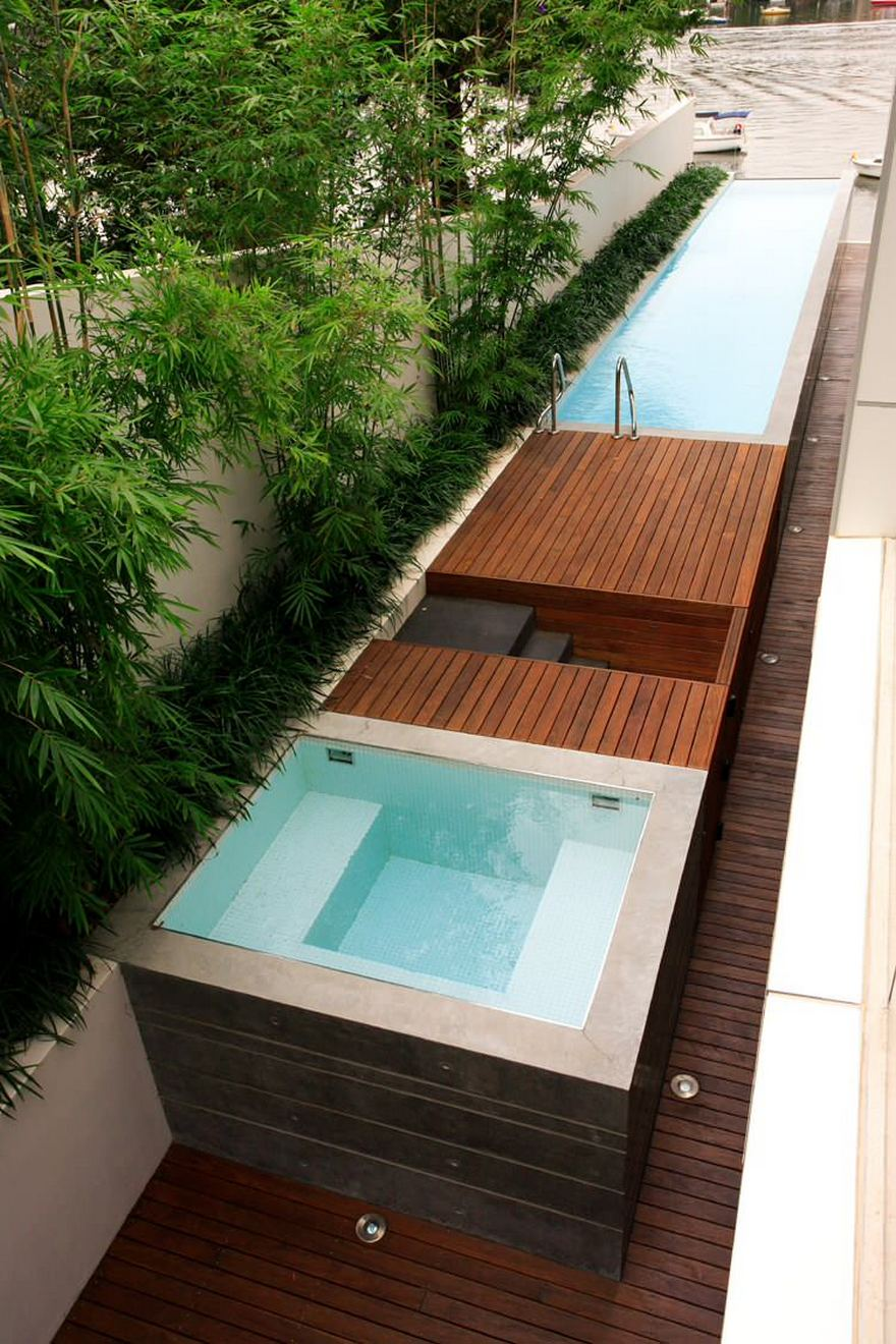 outdoor pool and hot tub spa 13