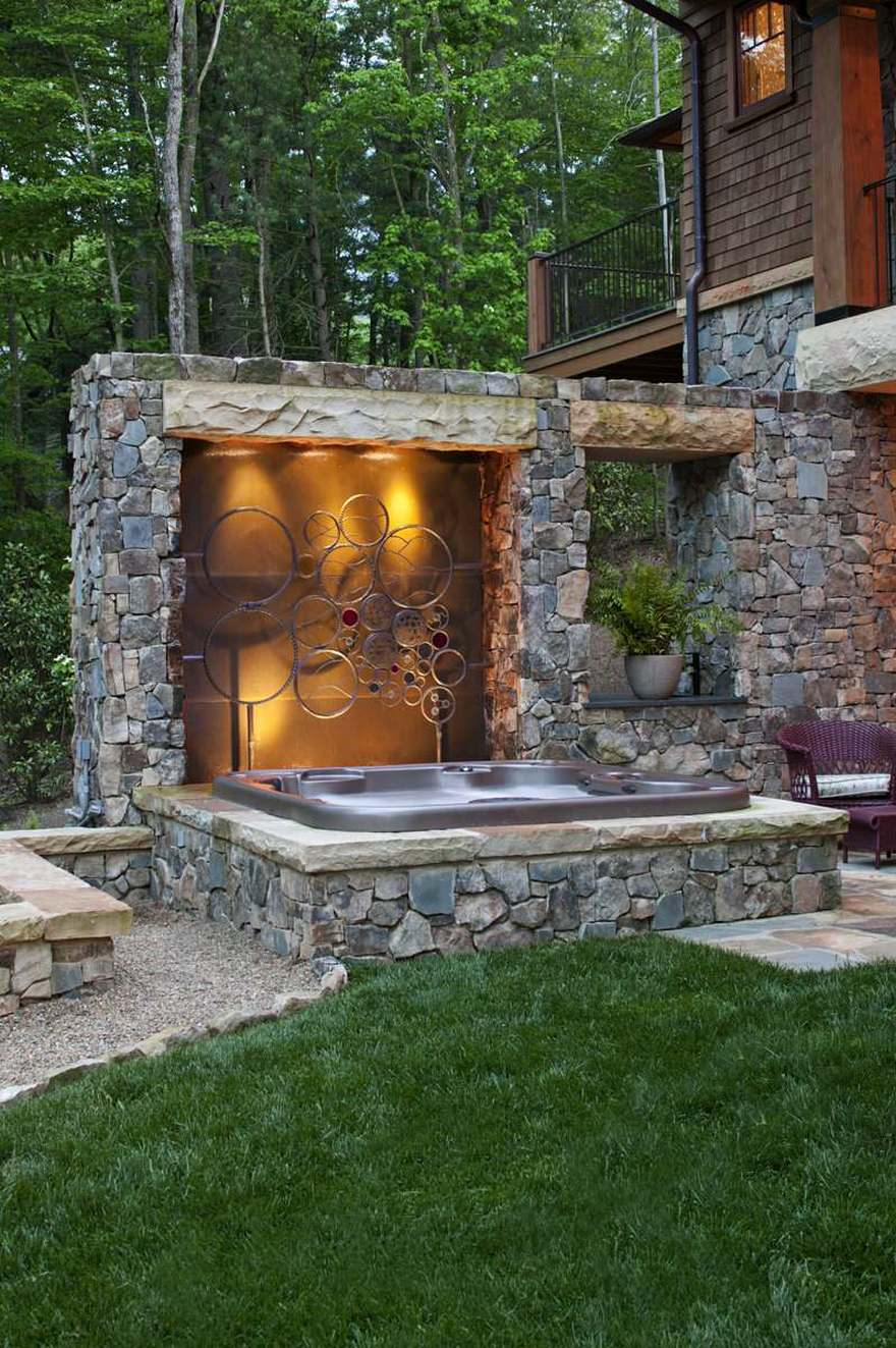 outdoor pool and hot tub spa 14