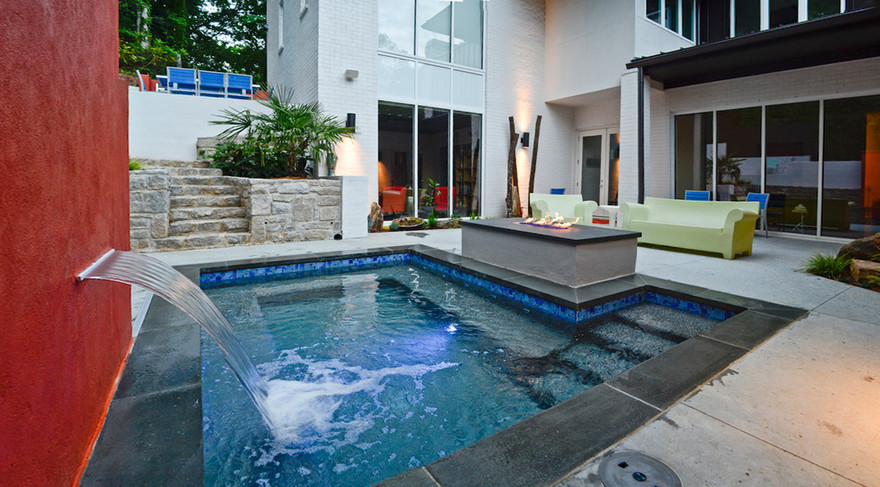 outdoor pool and hot tub spa 20