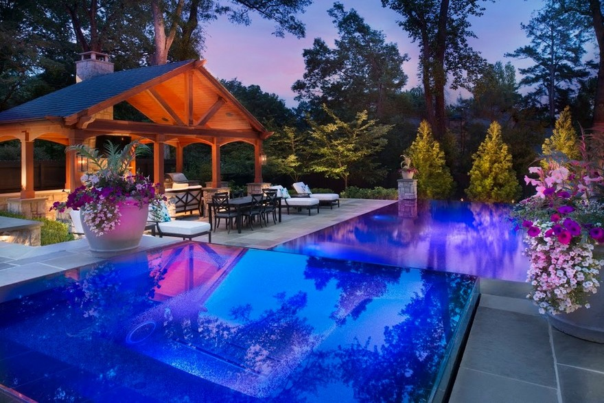 outdoor pool and hot tub spa 24