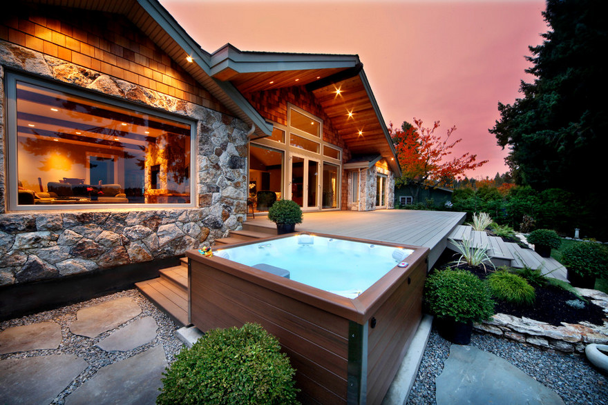 outdoor pool and hot tub spa 49