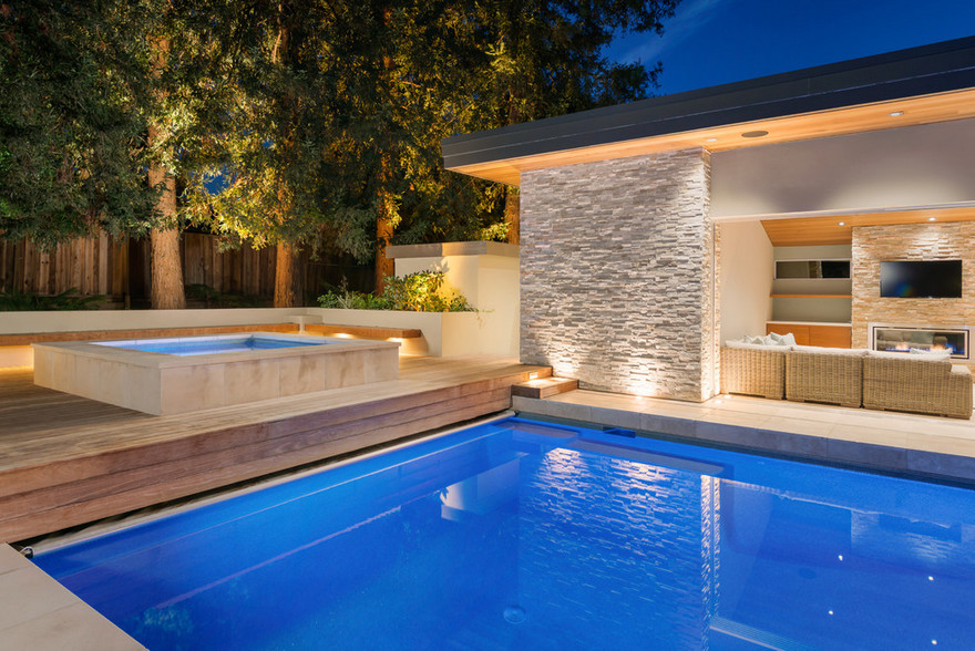 outdoor pool and hot tub spa 55