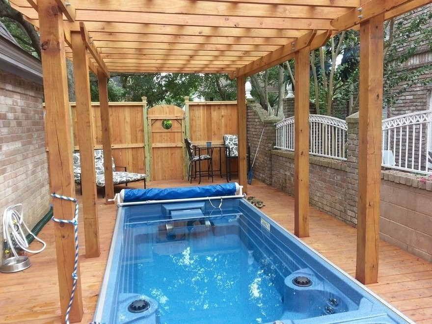 outdoor pool and hot tub spa 7