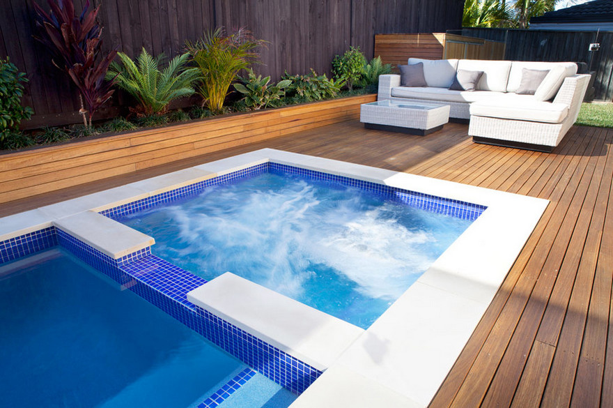 outdoor pool and hot tub spa 9